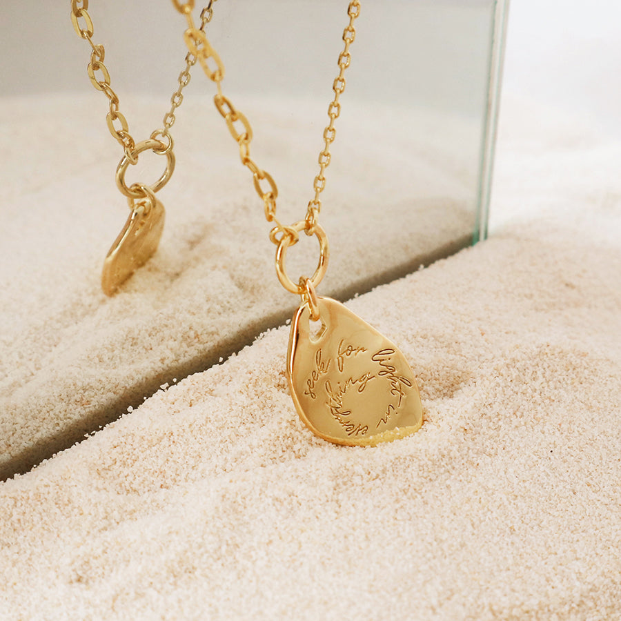 Seek for Light Gold Necklace