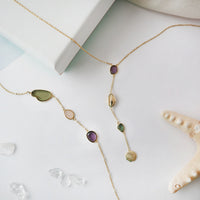 Gili Gold Lariat Necklace