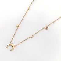 Starlit Gold Sterling Silver Necklace
