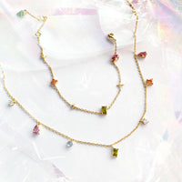 Aurora Gold Gem Necklace - Wanderlust + Co
