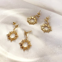 Sunseeker Gold Earrings - Wanderlust + Co