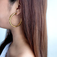 Faye Midi Gold Hoop Earrings - Wanderlust + Co