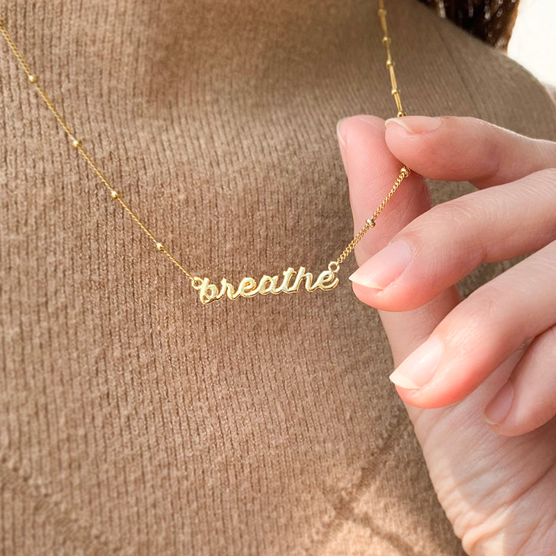 Name Necklace Gold and Silver beginning with V
