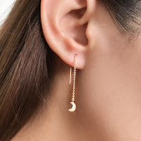Stardust Gold Threader Earrings