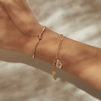 Teardrop Star Gold Bracelet