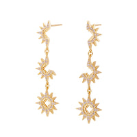 Sun Phase Gold Earrings