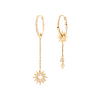 Sunlit Drop Gold Earrings