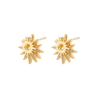 Sunlit Jacket Gold Earrings