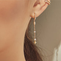 Stargazer Drop Gold Earrings