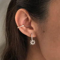 Sunlit Hoop Silver Earrings