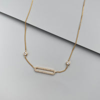 Connect Sterling Silver Gold Necklace