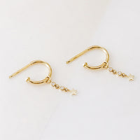Star Gold Hoop Earrings - Wanderlust + Co