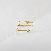 In The Stars Gold Ear Cuffs - Wanderlust + Co