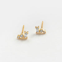 Multi-Gem Diamante Gold Earrings