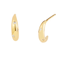 Dawn Gold Huggie  Earrings - Wanderlust + Co