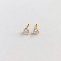 Brilliant Topaz Gold Sterling Silver Earrings