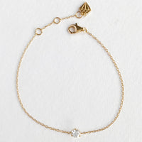 Brilliant Topaz Gold Sterling Silver Bracelet