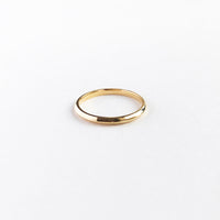 Classic  Band Gold Sterling Silver Ring