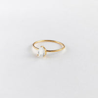 Pear Topaz Gold Sterling Silver Ring
