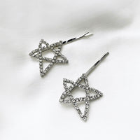 Star Diamante Hair Clip Set