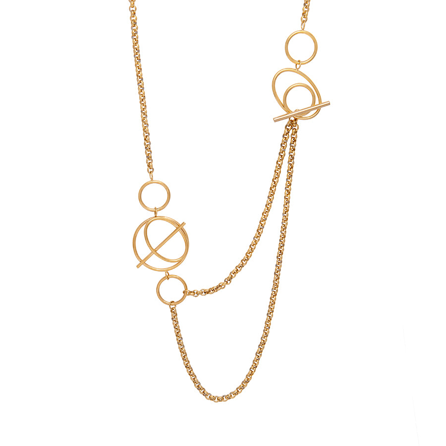 Helix Gold Layered Necklace