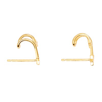 In The Stars Gold Huggie Earrings - Wanderlust + Co