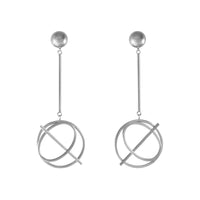 Infusion Silver Drop Earrings - Wanderlust + Co
