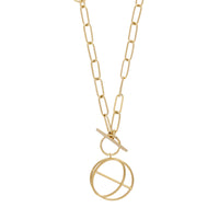 Infusion Gold Toggle Necklace - Wanderlust + Co