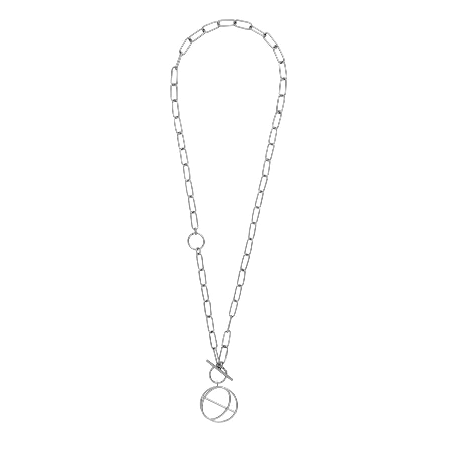 Infusion Silver Toggle Necklace