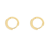 Dusk Gold Pave Huggie Earrings - Wanderlust + Co