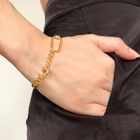 Reflect XL Curb Chain Gold Bracelet