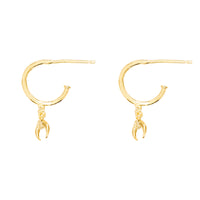 Luna Hoop Gold Huggie Earrings - Wanderlust + Co