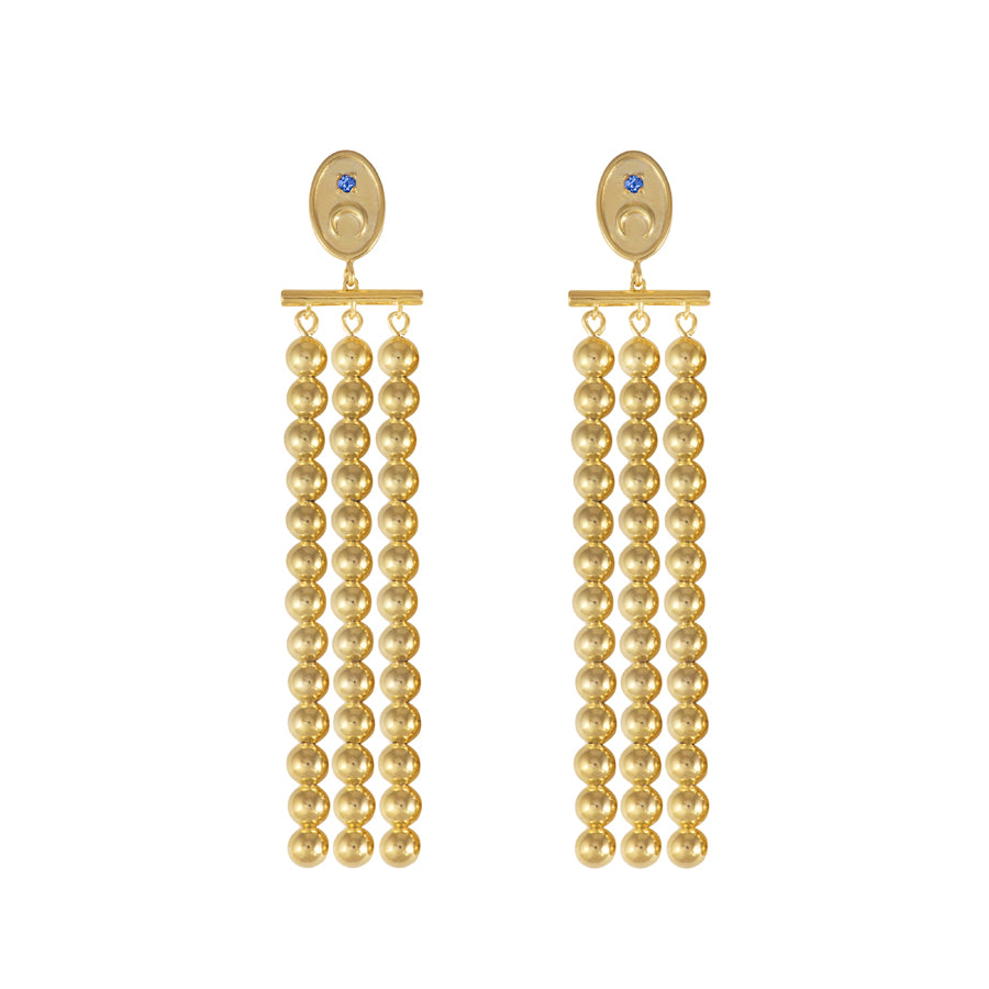 Luna Gold Drop Earrings