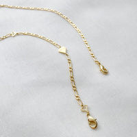 Figaro Chain Gold Necklace and Mask Chain