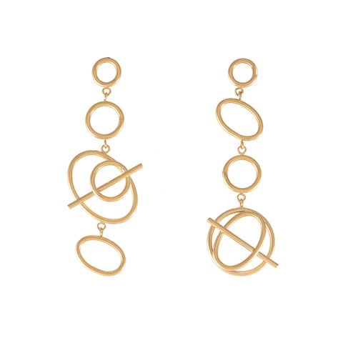 Multi Helix Gold Earrings