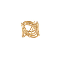 Multi Helix Gold Ring