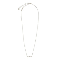 Sterling Silver Nameplate Necklace With Classic Box Chain - Wanderlust + Co