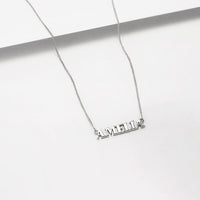 Sterling Silver Nameplate Necklace With Curb Chain - Wanderlust + Co