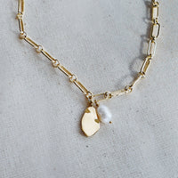 Pocketful Pearl Gold Necklace
