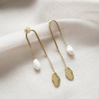 Kindred Pearl Drop Gold Earrings
