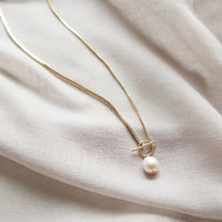 Kindred Pearl Toggle Gold Necklace