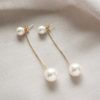 Take Breath Pearl Gold Earrings