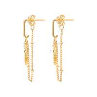 Midnight Drop Gold Earrings