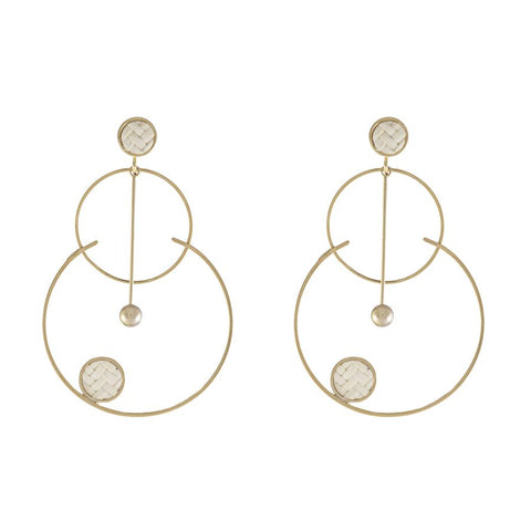 Arlo Gold & Ivory Hoop Earrings