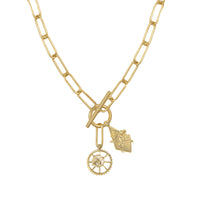 Bee Gold XL Toggle Necklace