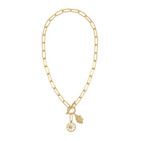 Bee Gold XL Toggle Necklace - Wanderlust + Co