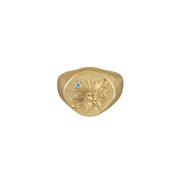 Bee Gold Signet Ring - Wanderlust + Co