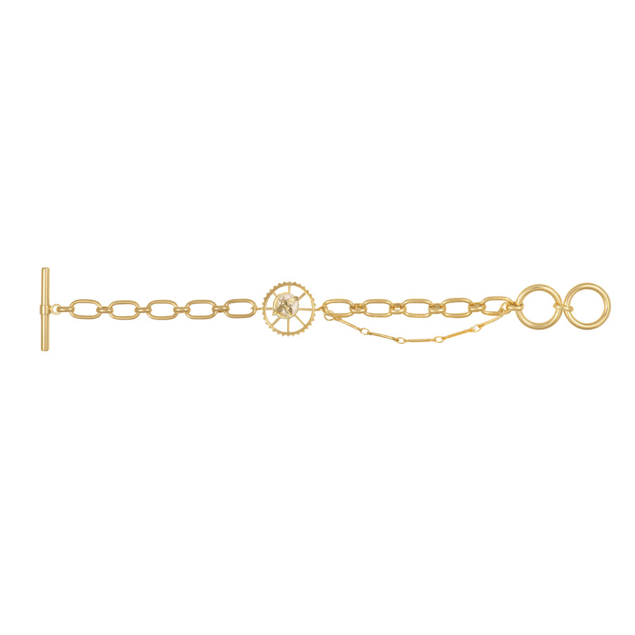Bee Gold Toggle Bracelet