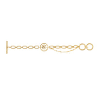 Bee Gold Toggle Bracelet - Wanderlust + Co
