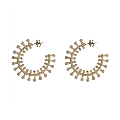 Siona Gold Hoop Earrings